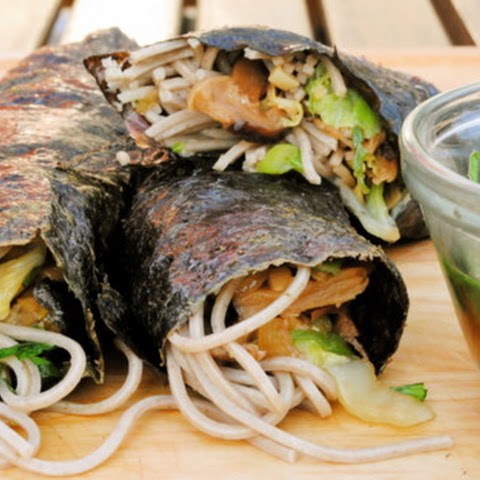 Nori Rolls with Shiitakes and Soba Noodles