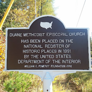 Duane Methodist Episcopal Church has been placed on the National Register of Historic Places in 1991 by the United States Department of the InteriorWilliam C Pomeroy Foundation 2016Submitted by Alan ...