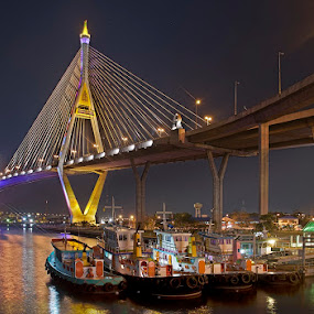 Bhumibol Bridge by Reinhard Latzke - Buildings & Architecture Bridges & Suspended Structures ( bangkok, thailand, bhumibol bridge )