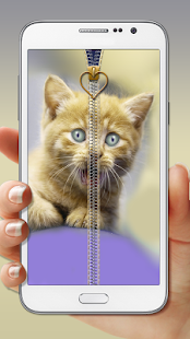 Cute Kitty Zipper Lock - screenshot