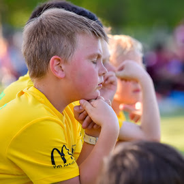Time Out in Mid Game by Garry Dosa - Babies & Children Children Candids ( spring, soccer, sports, outdoors, teams, action, boys )