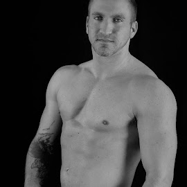 Jon.. by Mark Wathen - Nudes & Boudoir Artistic Nude ( nude, black and white, male, sports, soccer )