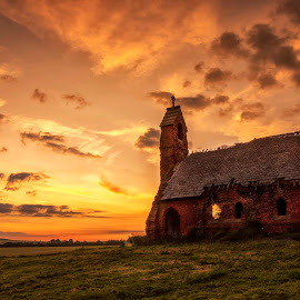 cottam chapel by Alastair Graham - Buildings & Architecture Decaying & Abandoned ( sky, church, yorkshire, sunset, landscape )