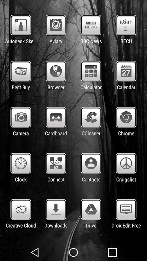 oNe1 White - Icon Pack Screenshot 2