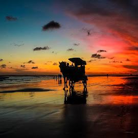 Parangtritis by Irwan Setiawan - Landscapes Beaches ( parangtritis, jogjakarta, pantai, sunset, indonesia, silhouette, asia, journey, travel, landscape, photography,  )