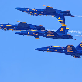 Blue Angels 858 by Raphael RaCcoon - Transportation Airplanes