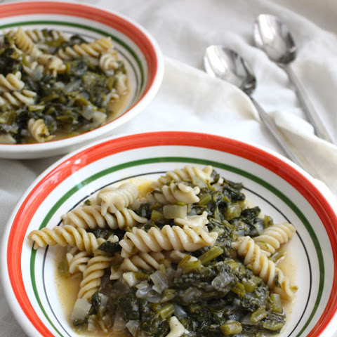 Turnip Greens Minestrone  (adapted from The Silver Spoon, called Puglian Minestrone there)