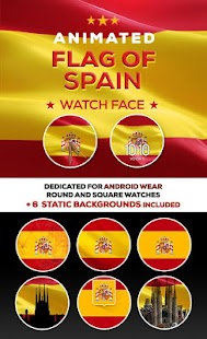 Animated Spain Flag Watch Face