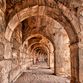 Arched Walkway @ the Aspendos Theatre by Rafael Uy - Buildings & Architecture Other Exteriors ( aspendos, antalya, roman structure, theater, turkey )
