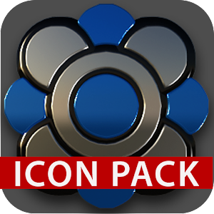 Black silver blue Icon Pack 3D For PC / Windows 7/8/10 / Mac – Free Download