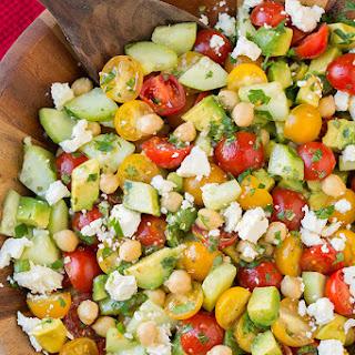 tomato cucumber feta salad in wealth and health feta cheese cherry ...
