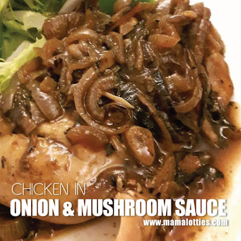 Chicken in Onion and Mushroom Sauce