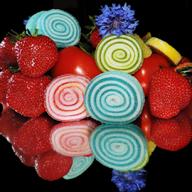 fruits,candys with flower by LADOCKi Elvira - Food & Drink Fruits & Vegetables ( fruits )