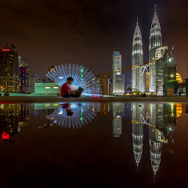 by PS FOONG - City,  Street & Park  Night