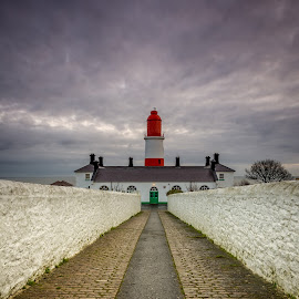 Souter lighthouse, Sunderland by Phil Reay - Buildings & Architecture Other Exteriors ( souter, lighthouse, sunrise, sunderland )