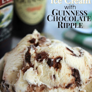 Baileys Ice Cream with Guinness Chocolate Ripple