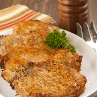 Oven-Fried Parmesan Pork Chops