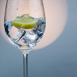 Gintastic by Amy Hawker - Food & Drink Alcohol & Drinks ( splash, alcohol, glass, light, lemon )