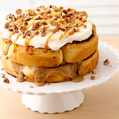 Double-Stacked Cinnamon Roll Cake