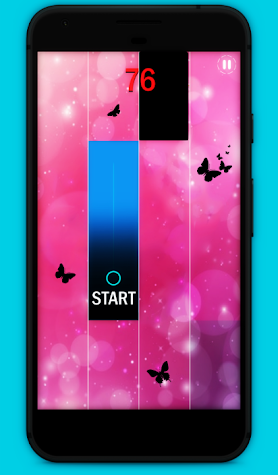 Piano music : pink magic tiles Screenshot