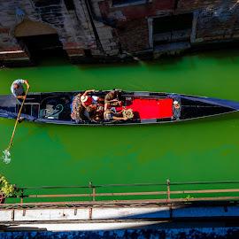 Gondola by Aamir DreamPix - City,  Street & Park  Historic Districts ( gondola, europe, riverside, rivers, san marco, italy, river )