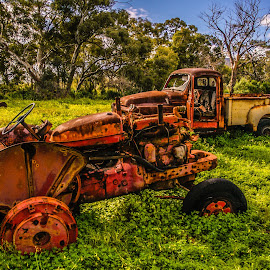 Rust Never Sleeps by Sean Heatley - Transportation Automobiles ( farm, car, vintage, rust, tractor, rural )