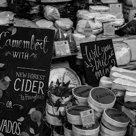 Did Somebody Say Cheese? by Kieran Williams - Food & Drink Meats & Cheeses ( colour, black and white, cheese, light, gradient )