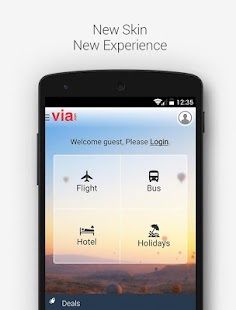VIA - Flight Hotel Holiday Bus APK for Bluestacks