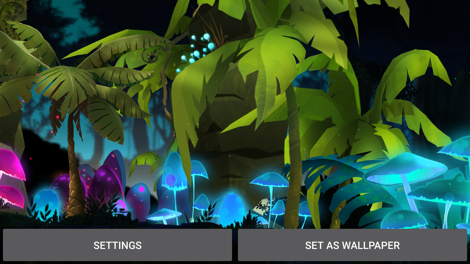 Mushroom Firefly Jungle LWP Screenshot 18