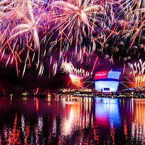 Singapore Independence Day Fireworks by Valliappan Chellappan - Abstract Fire & Fireworks ( history, celebrations, independence, fireworks, moments, singapore )