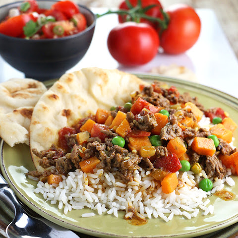 Beef Curry with Sweet Potato and Peas