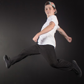 Dancing by Cheree Smith - Novices Only Portraits & People ( studio, dancing, jumping, movement, boy, portrait )