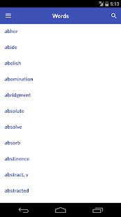 English Synonym Antonym - screenshot