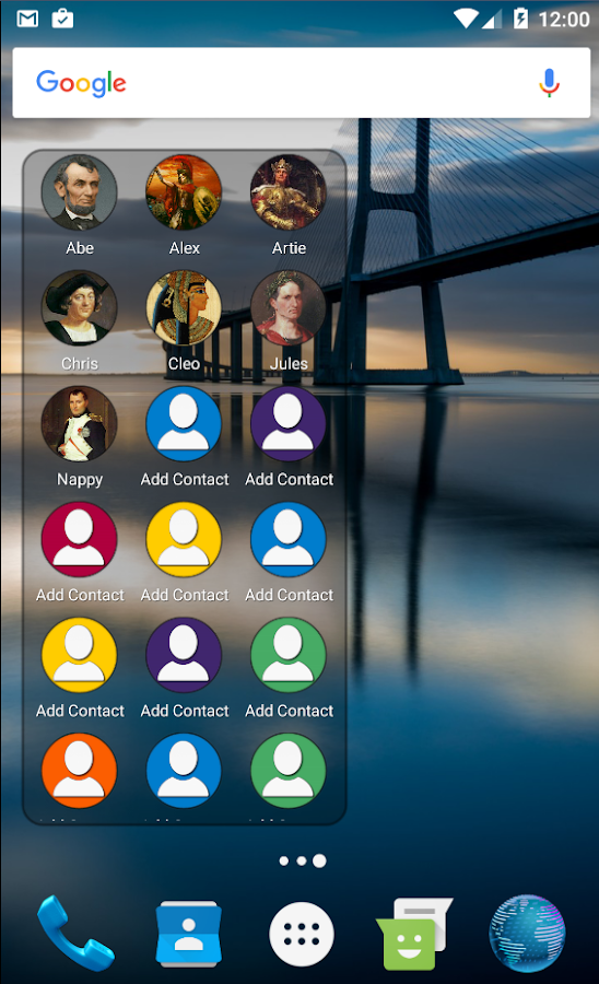 Mad Contacts Widget Screenshot 1