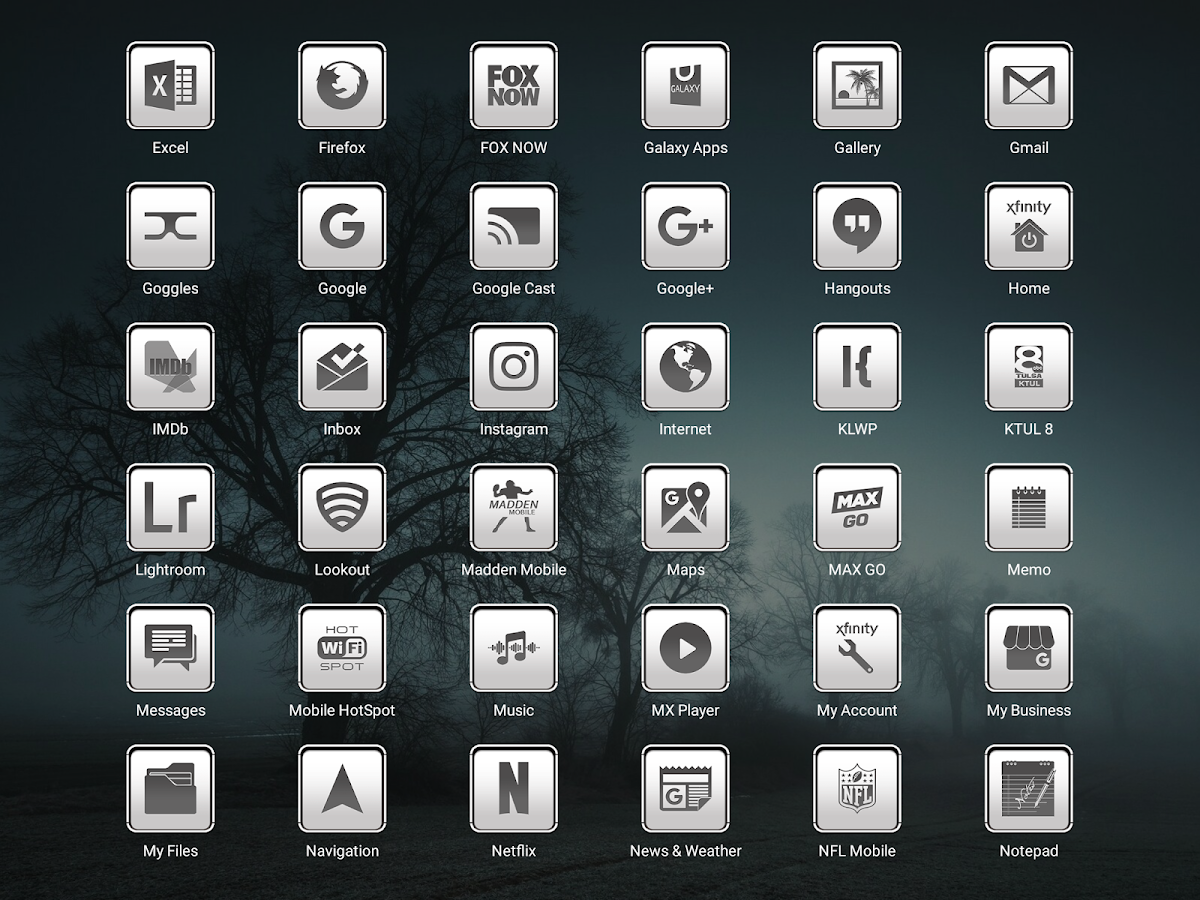 oNe1 White - Icon Pack Screenshot 9