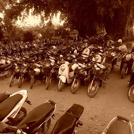 parking lot by Rebecca Pollard - Transportation Motorcycles