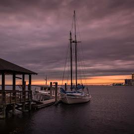 A Purple Sunset by Ron Maxie - Landscapes Sunsets & Sunrises
