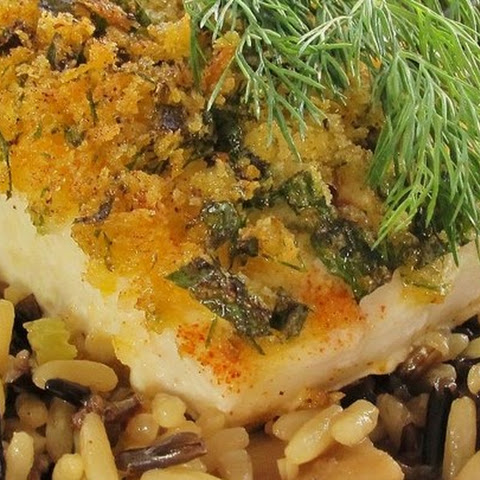 Herb Crusted Halibut