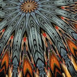 Alpaca Kaleidoscope by Ron Meyers - Digital Art Abstract