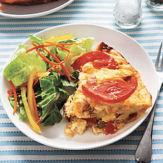 Cheesy Savory Bread Pudding