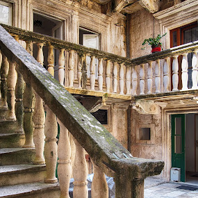 House in Korcula by Michal Fokt - City,  Street & Park  Historic Districts ( stairs, historic,  )