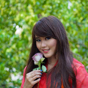 Purple Rose by Deddy Dwianto - People Portraits of Women