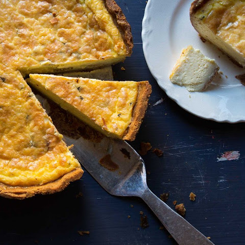 Perfect Blue Cheese Quiche with Whole Grain Crust