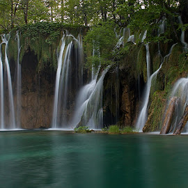 Plitvice Waterfalls by Charlie Davidson - Landscapes Waterscapes ( water, waterscape, waterfall, croatia, long exposure )