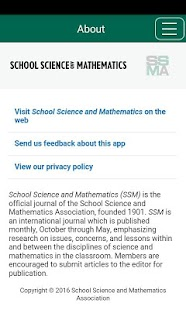 School Science and Mathematics - screenshot