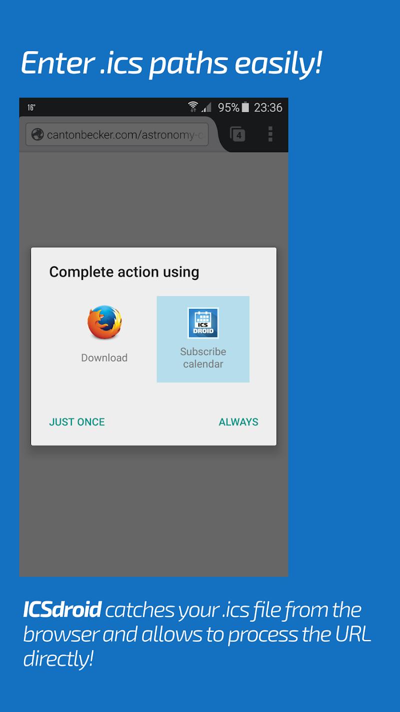 ICSx⁵ (ICSdroid) – sync Webcal & .ics calendars Screenshot 5