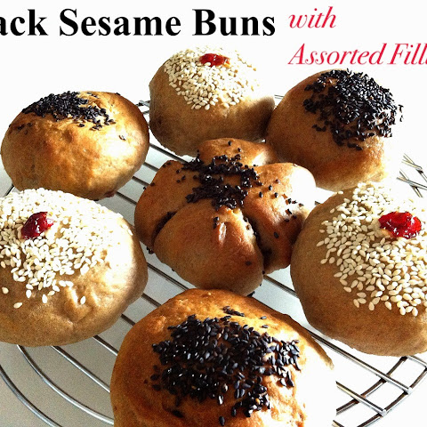 Baking Taitai's Black Sesame Buns with Cranberry Cream Cheese Filling