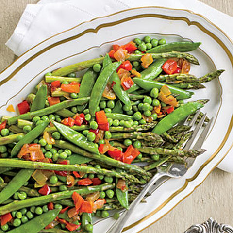 Asparagus with Red Pepper Chowchow