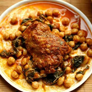 Curried Chicken with Kale and Chickpeas
