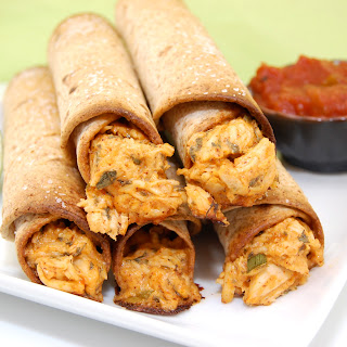 Creamy Baked Chicken Taquitos